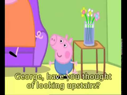 Learning English With Peppa Pig Cartoon Hide And Seek With Subtitle