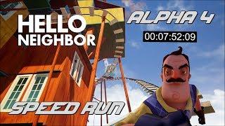 Hello Neighbor | SPEEDRUN 7 DK 52 SN - ALPHA 4 [Türkçe] #41