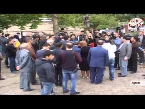 Xarici və yerli jurnalistlər Ağdam rayonunun Sarıcalı və Mahrızlı kəndlərində olublar