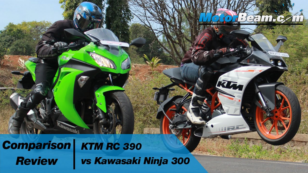 Ktm Rc 390 Vs Kawasaki Ninja 300 Comparison Review Motorbeam