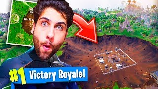 VENCI WITH THE CARBIDE SKIN FALLING INTO THE CRATER!! -Fortnite Battle Royale