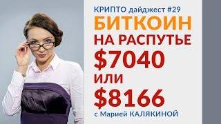 Биткоин на распутье: $7040 или $8166 | Краткосрочная коррекция | Новости криптовалюты