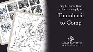 How to Turn Your Thumbnail Sketch Into a Drawing - Step 6