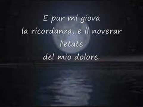 Leopardi E La Musica Alla luna (Giacomo Leo...