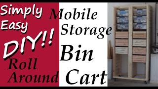 Roll Around Storage Bin Cart