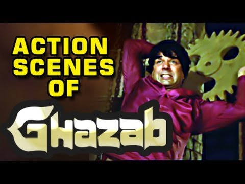 Dharmendra Action Scene - Ghazab
