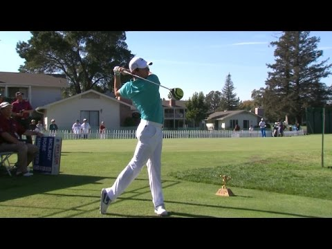 Rory McIlroy bombs his tee shot down the par-4 10th hole at Frys.com Open