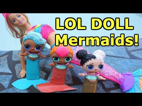 lol-surprise-dolls-go-swimming-again-and-find-mermaid-barbie-and-lol-dolls-become-mermaids!