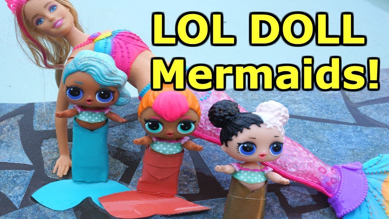 LOL SURPRISE DOLLS Go Swimming Again And Find MERMAID ...