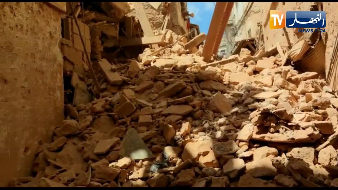 انهيار منزل بأربع طوابق بحي القصبة بالجزائر العاصمة