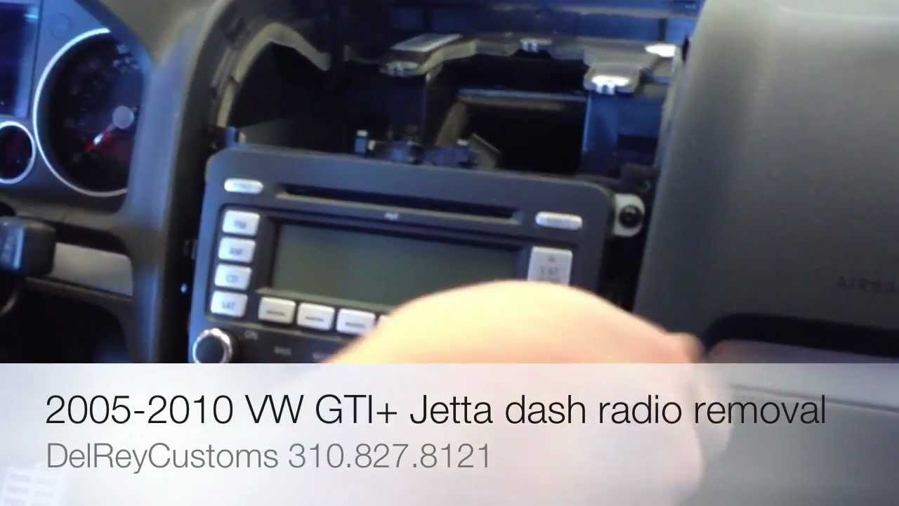 how to remove radio vw jetta gti r32 2005 2010 stereo repair diy youtube [ 1280 x 720 Pixel ]