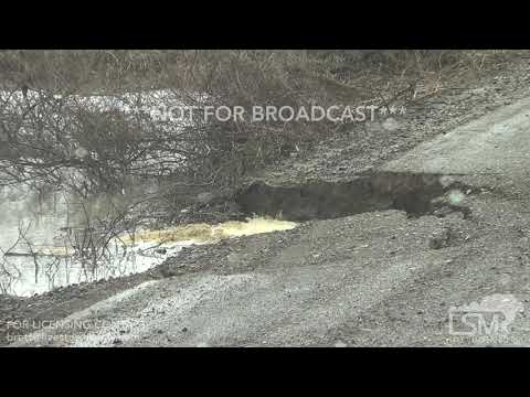 02-11-2019 Wilson, AR - flooded roadways and washed out road