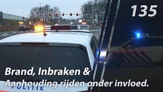 BRAND, inbraken en een aanhouding rijden onder invloed. POLITIE