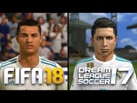 FIFA 18 vs Dream League Soccer | Real Madrid | Face Comparison