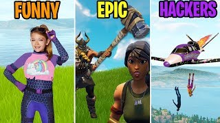 Killed by a LITTLE KID! FUNNY vs EPIC vs HACKERS! 286 Fortnite Funny Moments
