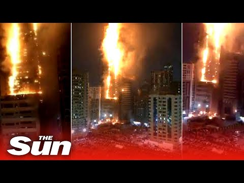 Huge fire engulfs 49-story residential skyscraper in UAE city of Sharjah