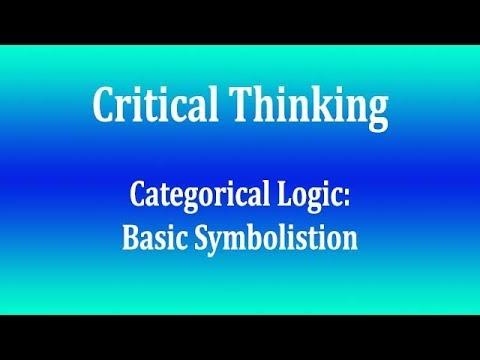 Categorical Logic   Basic Symbolisation