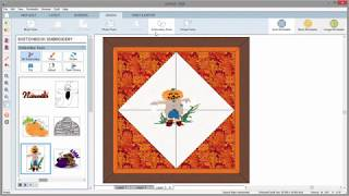 Setting Embroidery on a Quilt in EQ8