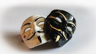 Как сделать маску Гая Фокса Анонимуса из пластика