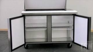 True Sandwich/salad Prep Table Video (tssu-48-18m-b-ada)