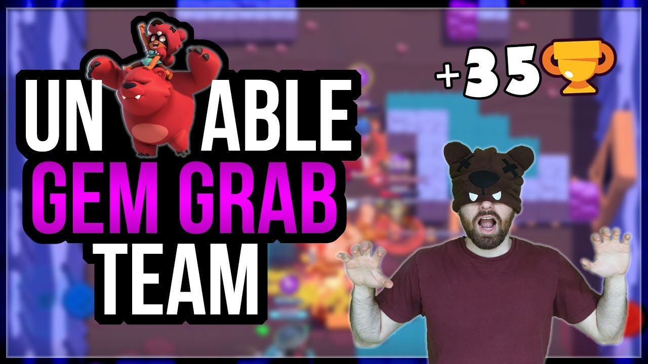 Dominating New Gem Grab Map Ancient Cavern With Nita Brawl Stars