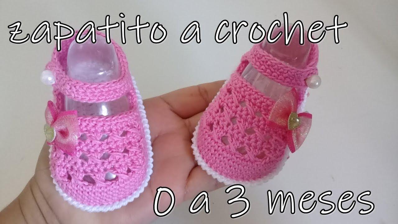 Salón Desarrollar pasajero  zapatos tejidos a crochet para bebe - modelo kenia -baby shoes - YouTube