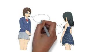 Learn Japanese through English in cartoon.  한 컷 만화로 외국어 배우기(영어/일어)