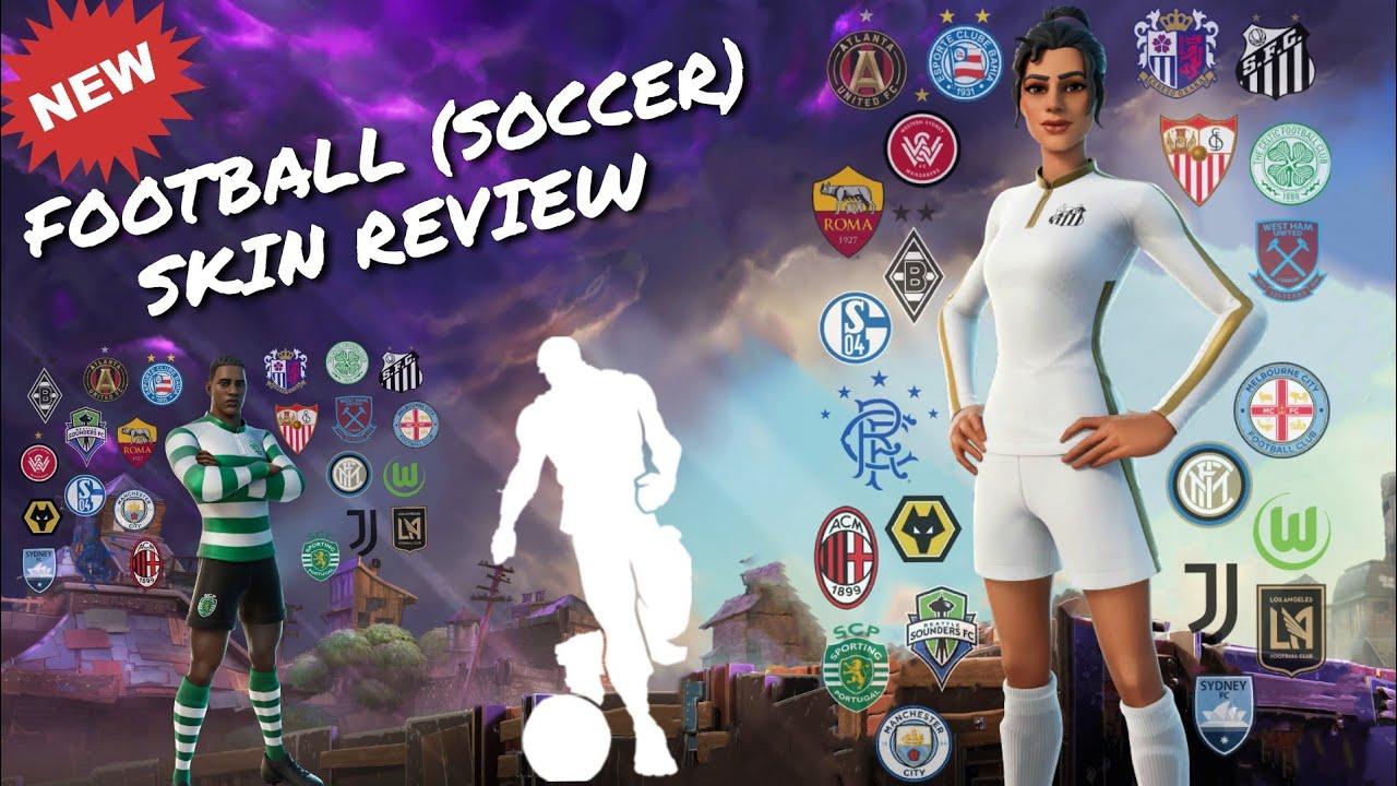 Soccer Skin Fortnite Youtube Logo New Football Soccer Skins Review Fortnite Gameplay Showcase Youtube