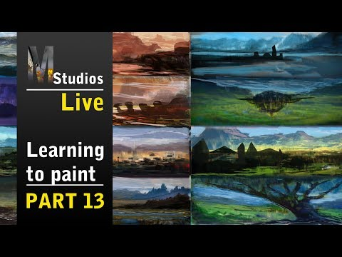 Learning How To Paint - Livestream - Generating ideas and creating Thumbnail sketches