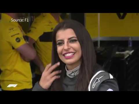 Saudi woman drives F1 car to mark end of driving ban
