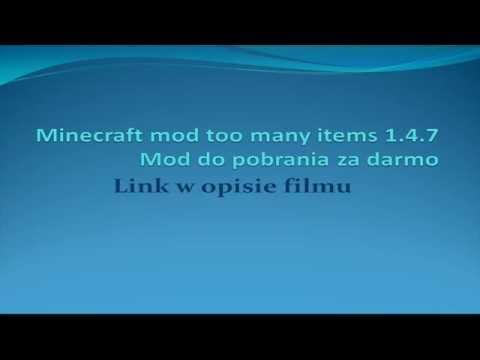 Minecraft mod too many items 1.4.7 link do pobrania za darmo