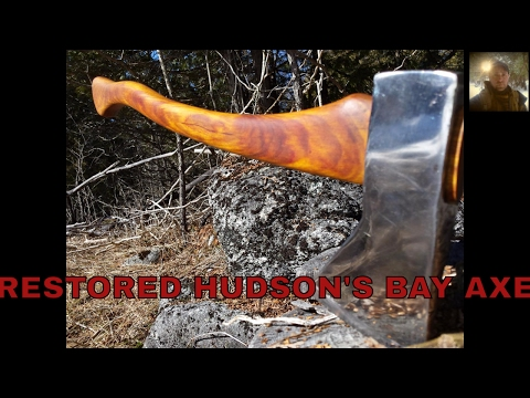 Restored Hudson's Bay axe and other homemade bushcraft  gear