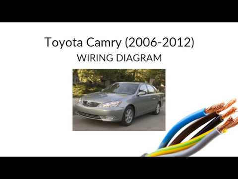 Toyota Camry Xv40 Wiring Diagram Manual Youtube