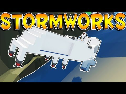 StormWorks - BUILDING A BOAT & TRANSFERRING SUPPLIES! - Stormworks: Build and Rescue Gameplay Part 1