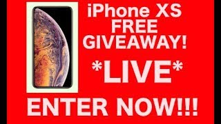 FREE iPHONE XS GIVEAWAY(6PM MST)!!!