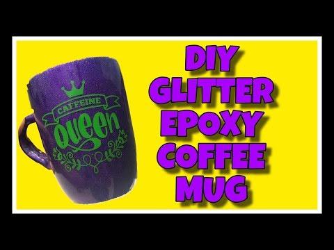 DIY Glitter Epoxy Coffee Mug