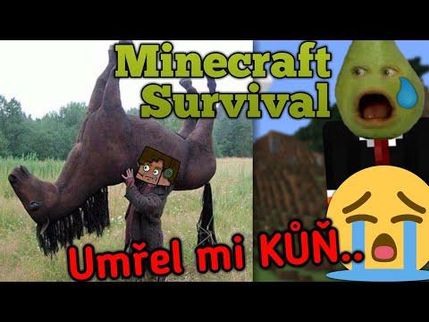 On UMŘEL !! 😭😭 - [Minecraft - Survival] w/ Hruška