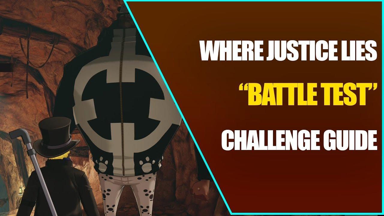 Battle Test - Challenge Guide - One piece: World Seeker - Sabo DLC