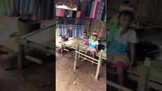 Long neck village ancient unique tribe Chiang Rai Thailand April 2018
