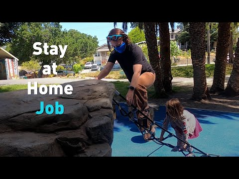 A new job title, 'stay-at-home parent' amid COVID