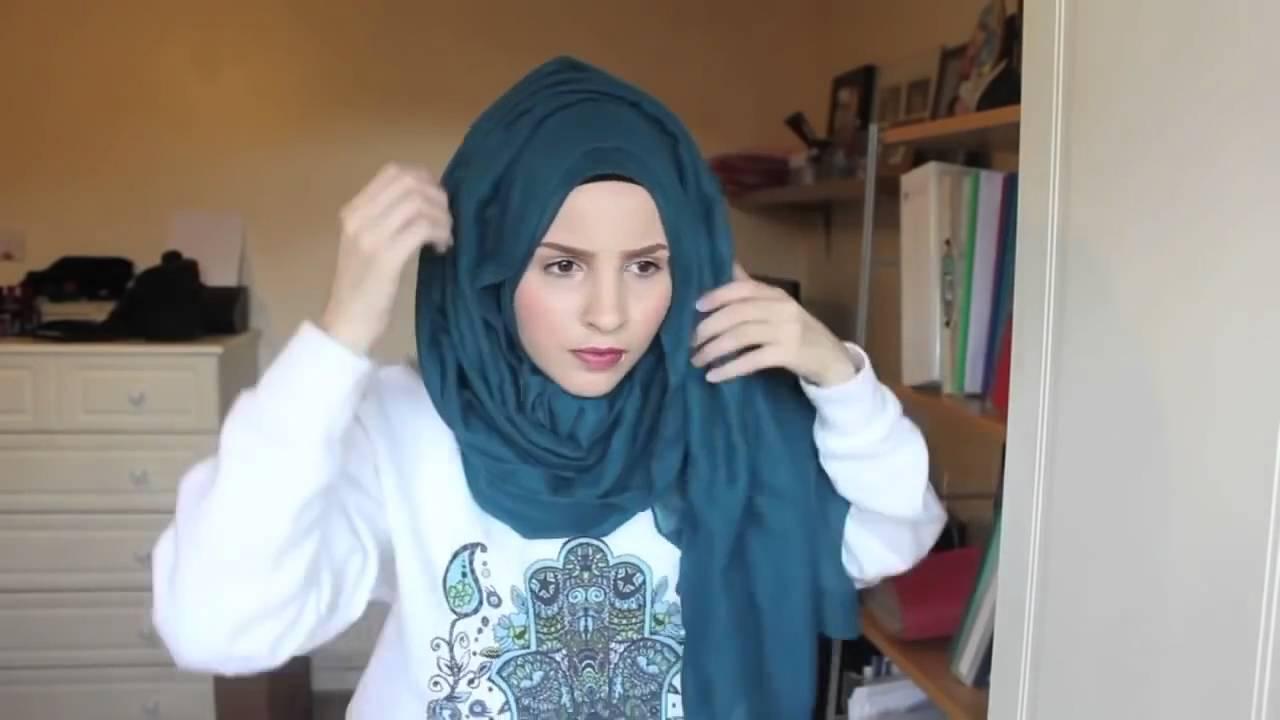 Hijab Tutorial Very Beautiful And Simple Hijab Tutorial Style