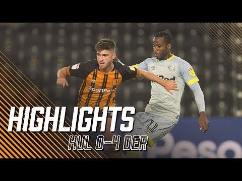 Hull City 0-4 Derby County   Carabao Cup 2nd Round   Highlights