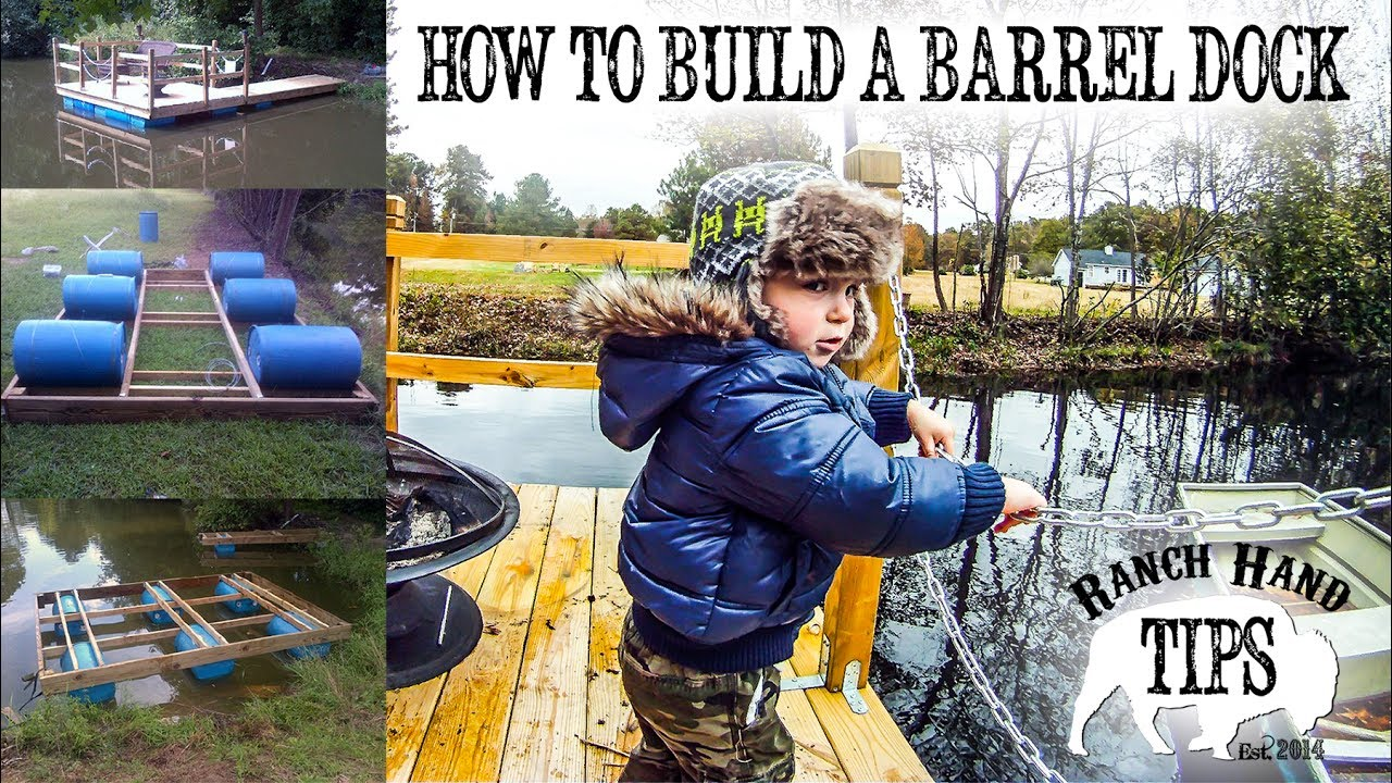 How To Build A Floating Barrel Dock From 55 Gallon Blue Tight Head Plastic Drums Ranch Hand Tips