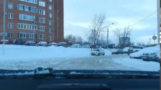 Выезд с зимней парковки