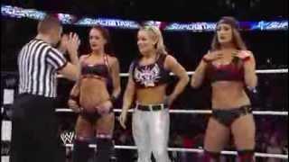 wwe superstars 02 20 14 the bella twins and natalya vs eva marie summer rae and tamina snuka