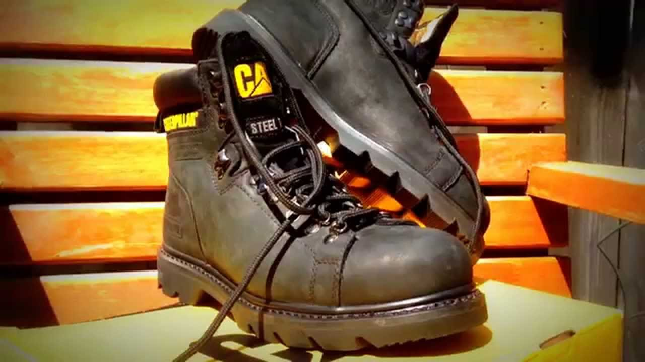 3372b60e Caterpillar Steel Toe Work Boot review- Half idiots guide. - YouTube