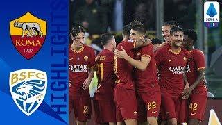 Roma 3-0 Brescia | Smalling, Mancini e Dzeko rilanciano i giallorossi | Serie A
