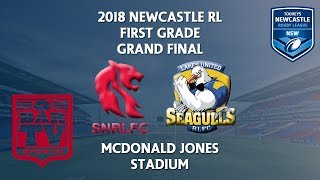 2018 Newcastle RL 1st Grade - Grand Final - South Newcastle Lions v Lakes United Seagulls