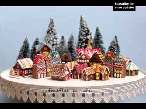 Polymer Clay Christmas Village.Picture Collection Of Decorative Beautiful Clay Gingerbread House