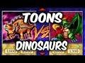 Yugioh TOONS vs DINOSAURS (Yu-gi-oh Duelist Kingdom)